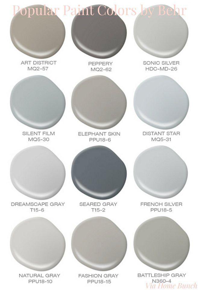 Behr Paint Colors Chart Best Of Gray Color Behr Paint Colors Paint Colors For Living Room Grey Paint Colors