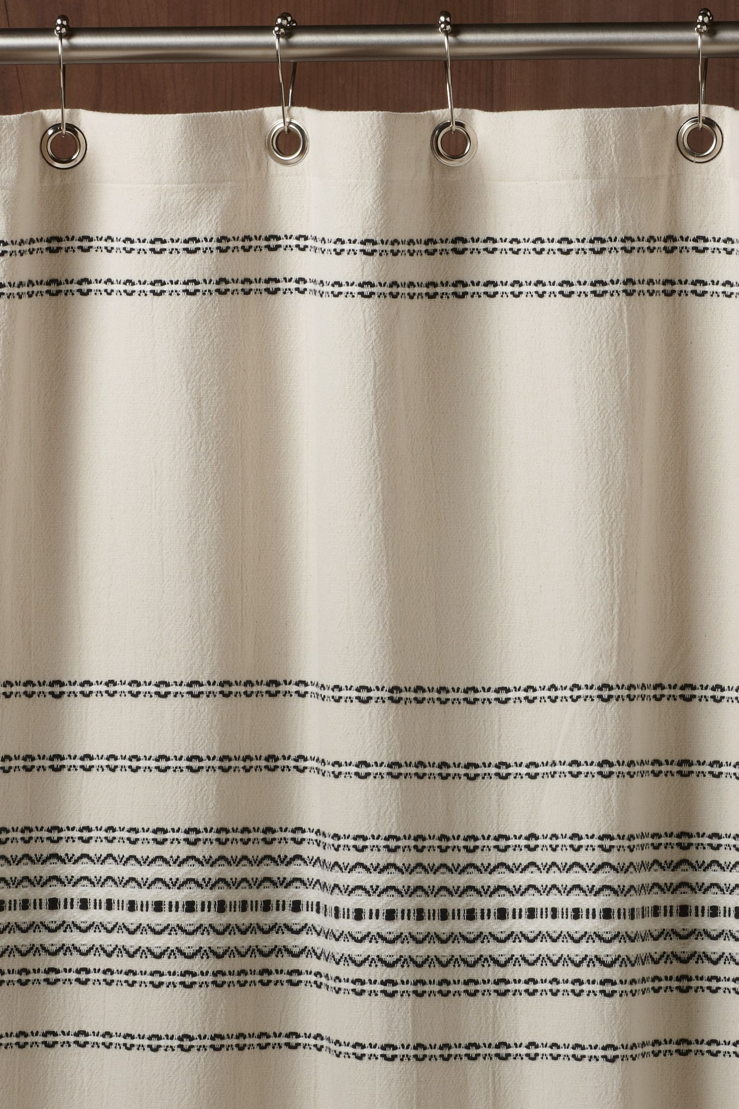 Coyuchi Rippled Stripe Organic Shower Curtain Organic Shower