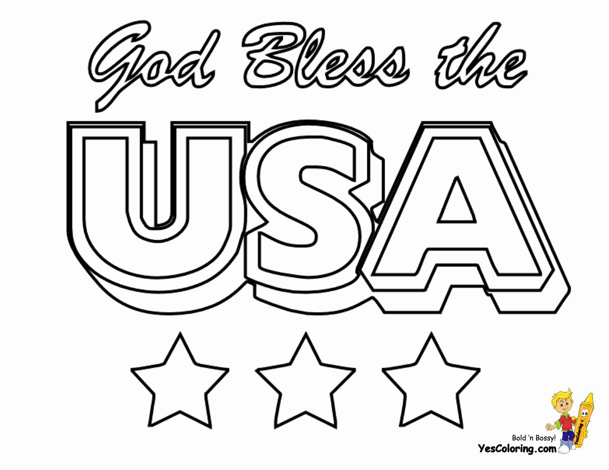 God Bless America Coloring Page Elegant Rugged Usa Coloring Pages