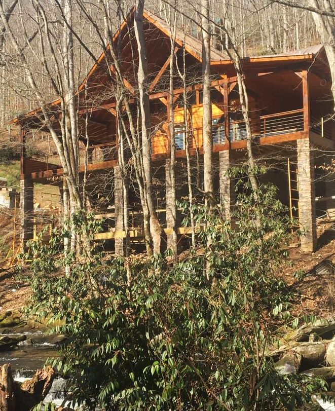 rentals lands creek in city north cabin smoky near nantahala cabins log mountain bryson western