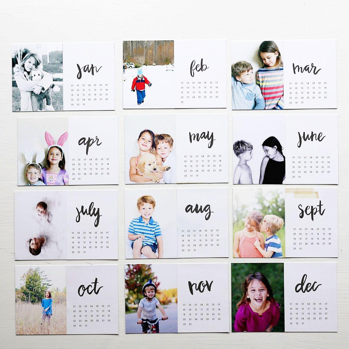 Diy Photo Calendar Selbstgemachter Kalender Fotokalender