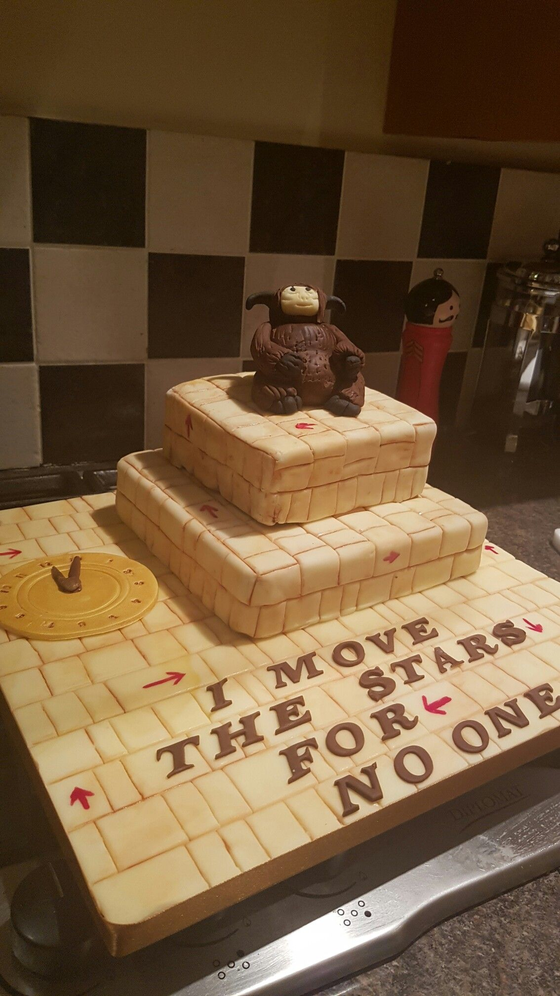 Labyrinth Theme Birthday Cake With Fondant Ludo And Clock Ki Cakes