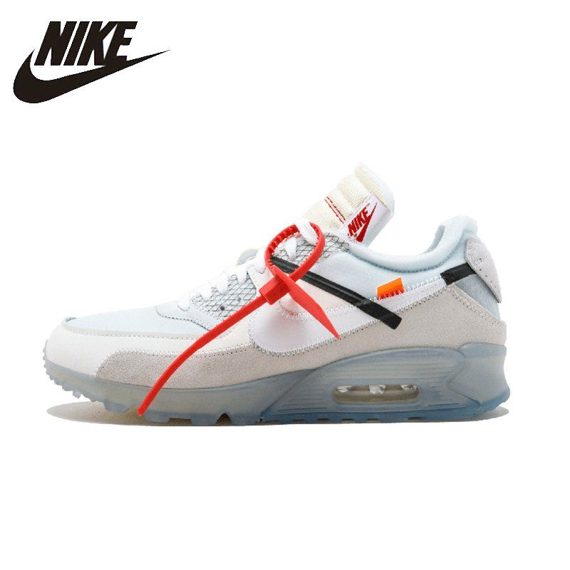 detailed pictures f0a00 4092a NIKE AIR MAX 90 OW Original Mens Running Shoes Breathable Stability Footwear  Super Light Sneakers For