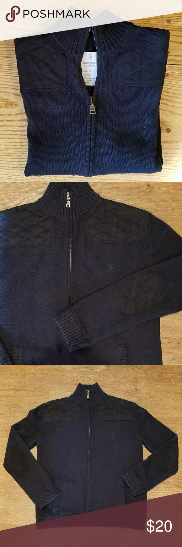Browning Black Zip up Sweater | Cotton sweater, Browning and Nice