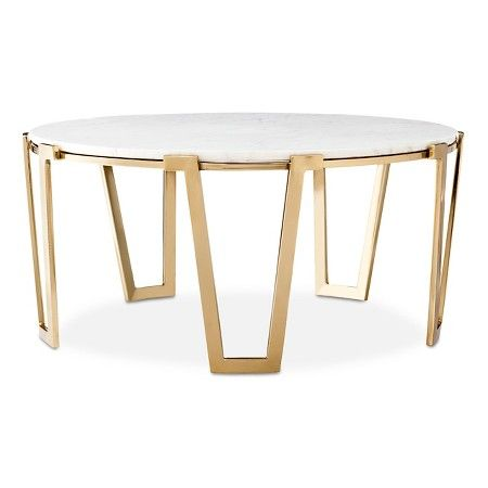 marble & gold coffee table - nate berkus™ this is perfection and