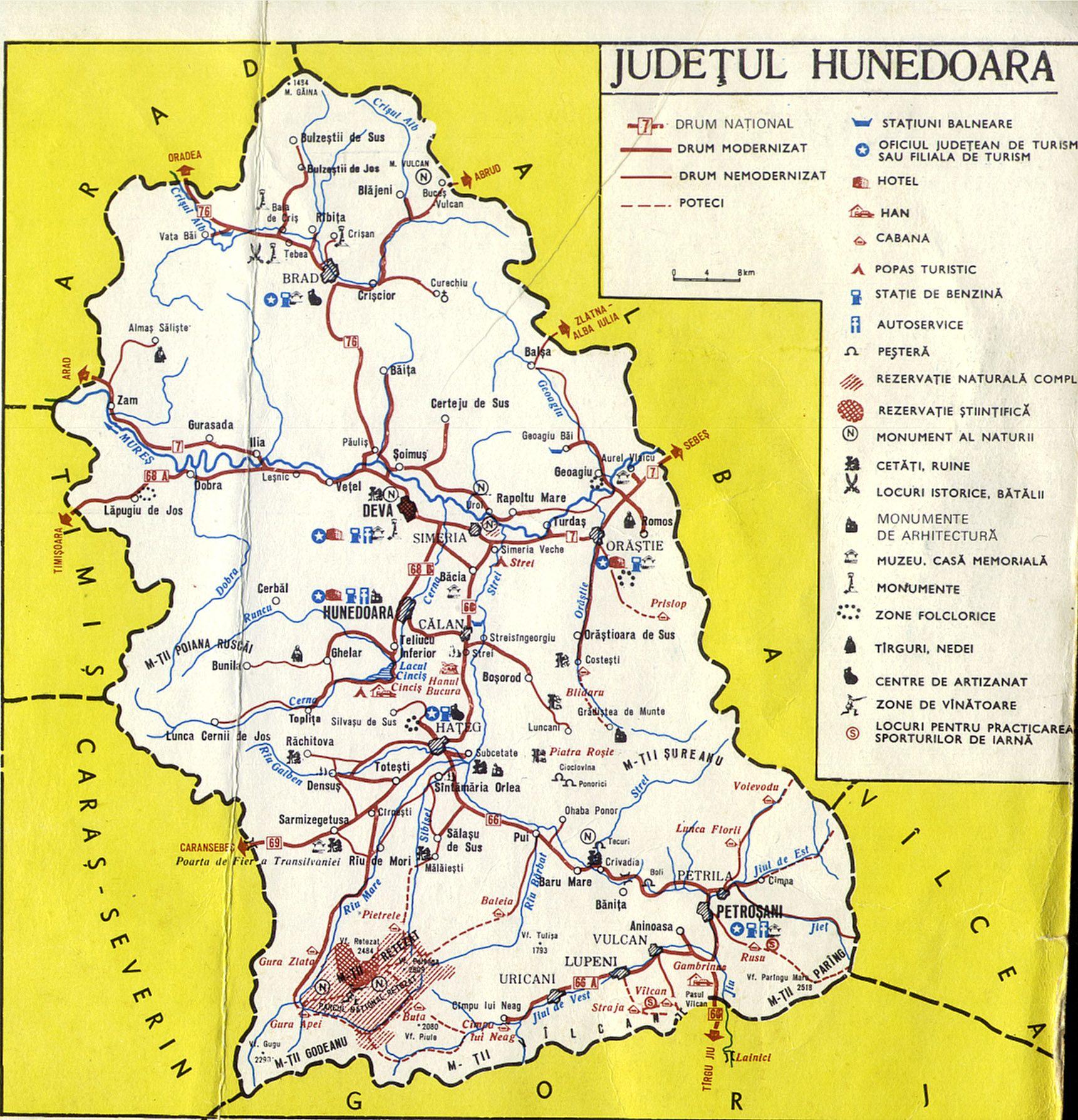 Harta Muntilor Retezat Jud Hunedoara Harti Detaliate Poteci
