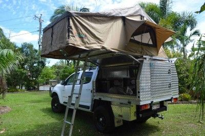 RG with rooftop tent side view. & RG with rooftop tent side view. | Ute Canopy Camper ideas ...