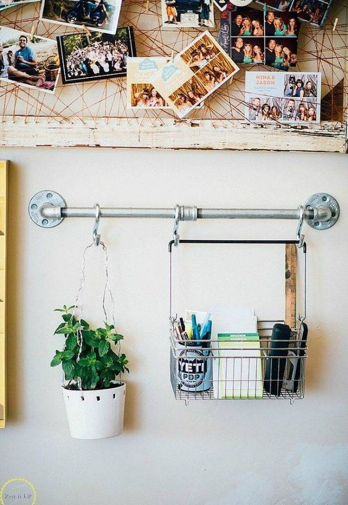 15 Coolest Ways To Reuse Pipes In Your Home Decor Office Wall Organiser Diy Home Decor Wall Organization