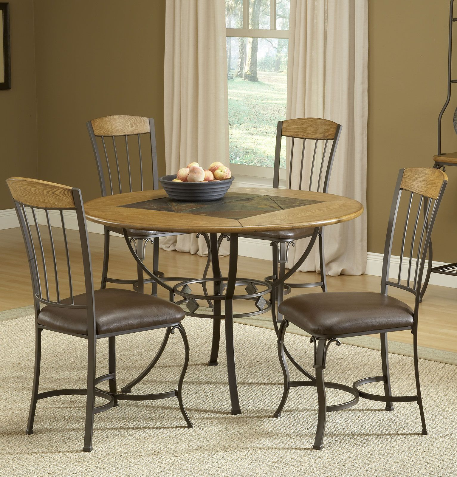 Lakeview Dining Room Endearing Lakeview 5Pc Dining Set With Round Table And Wood Accent Chairs Decorating Inspiration