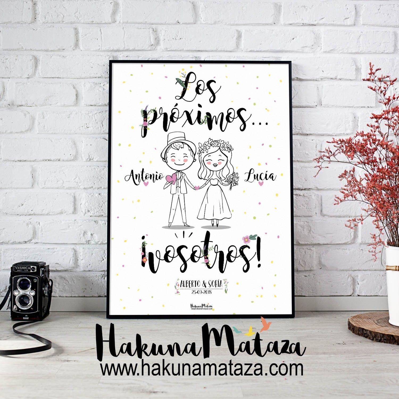 Lámina personalizada , láminas para bodas, cuadros , bodas , regalos ...