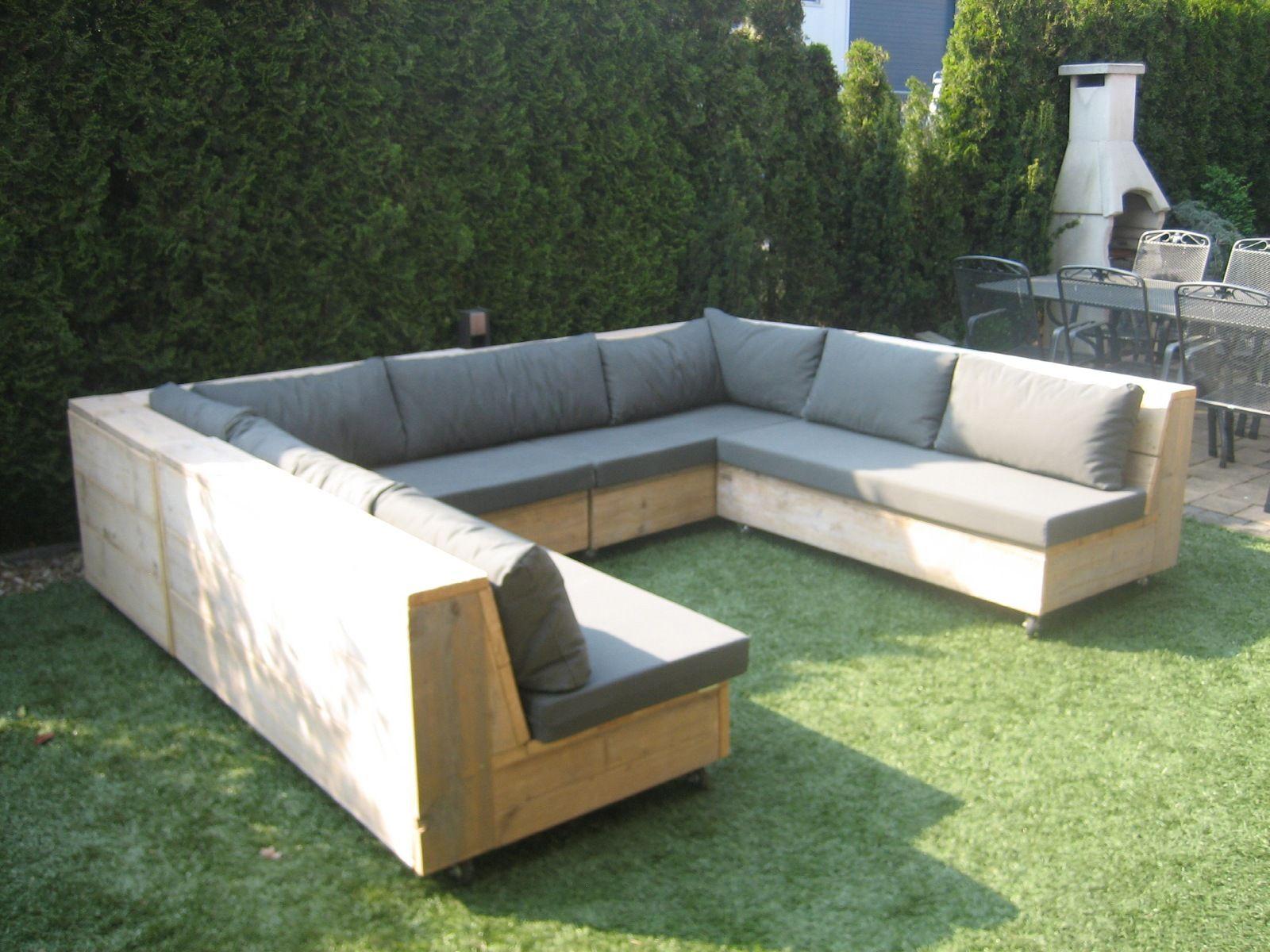 Loungebank van steigerhout Buitenstoelen, Buitenkamers