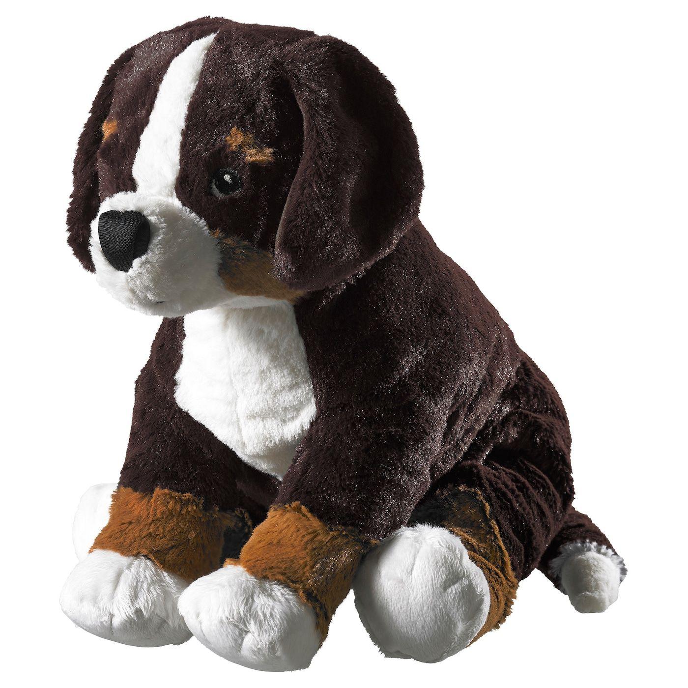 HOPPIG Stofftier Hund, Berner Sennenhund weiß IKEA