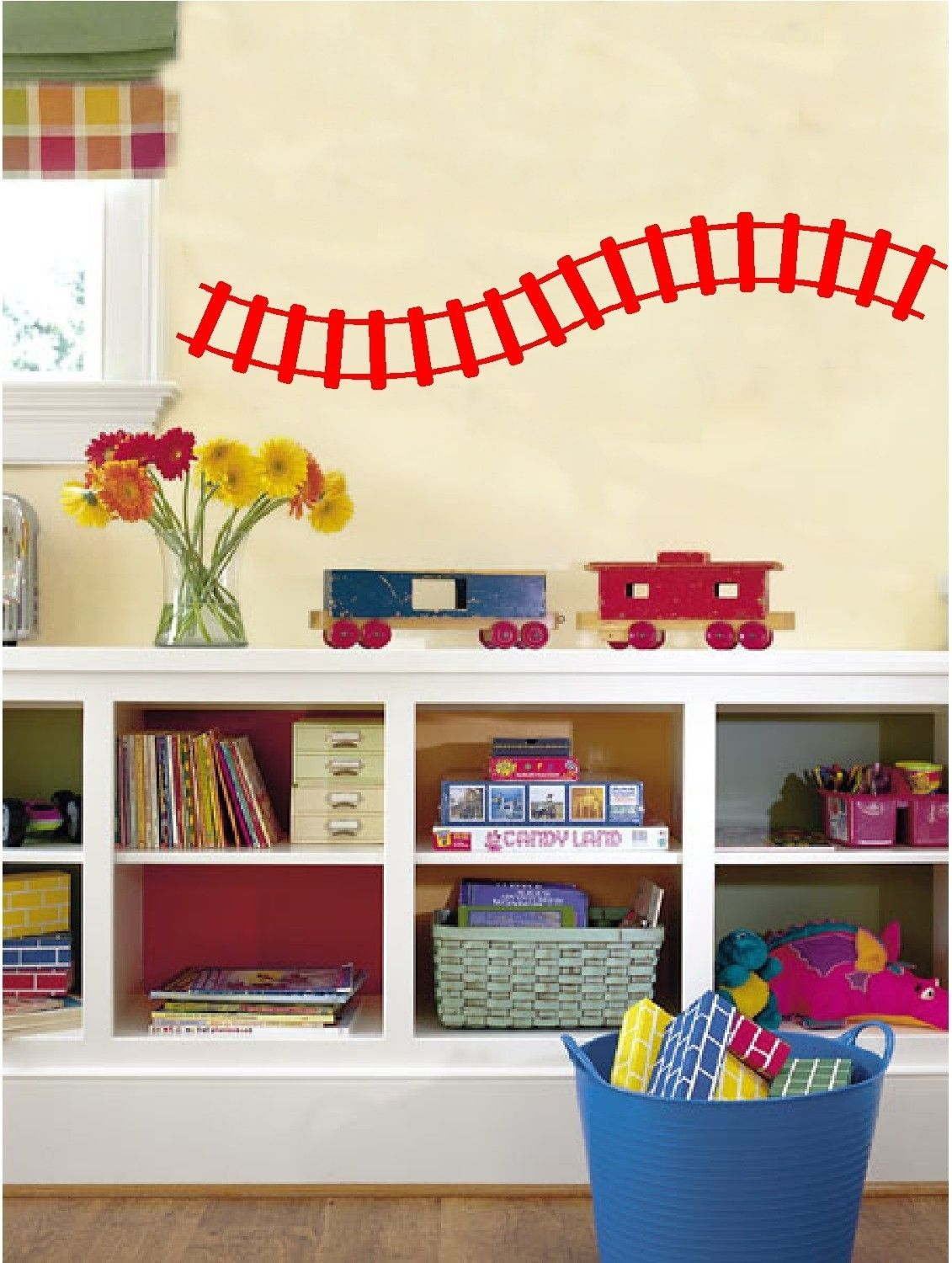 Train Track Wall Decals Stickers Removable Vinyl Wall Art.