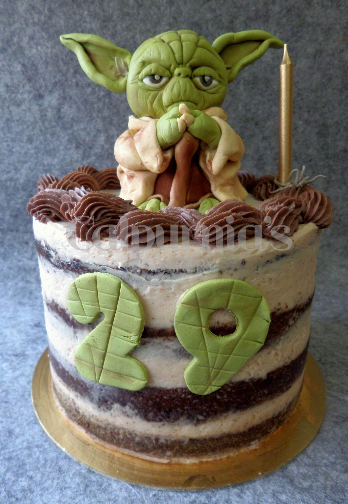 Star Wars Yoda Naked Cake Chocolate Y Fresas Smash Cakes