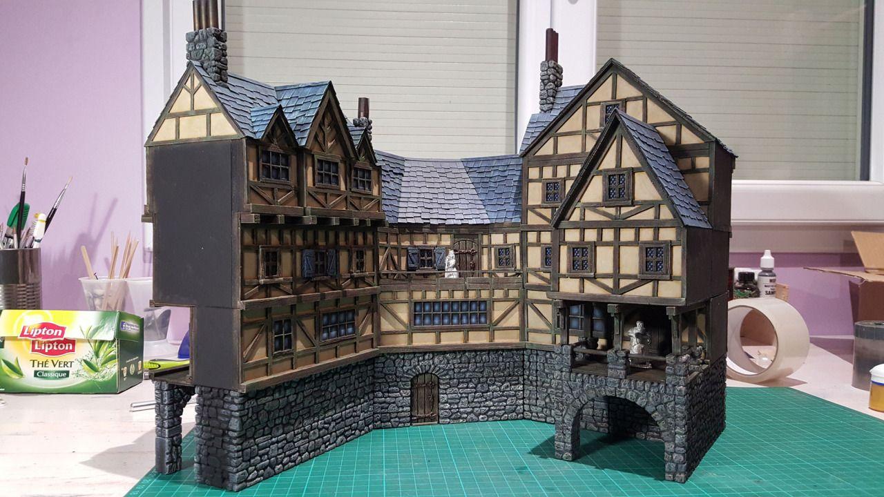 Medieval Inn - 28mm Building - Tabletop - Terrain - Diorama