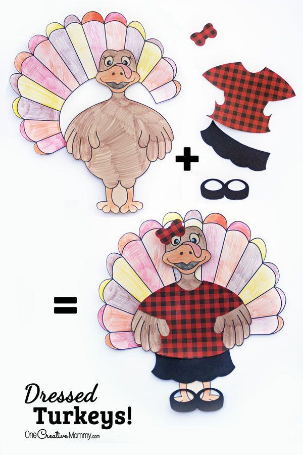 Dressed Turkey Thanksgiving Kids Craft | Thanksgiving, Filing and Craft