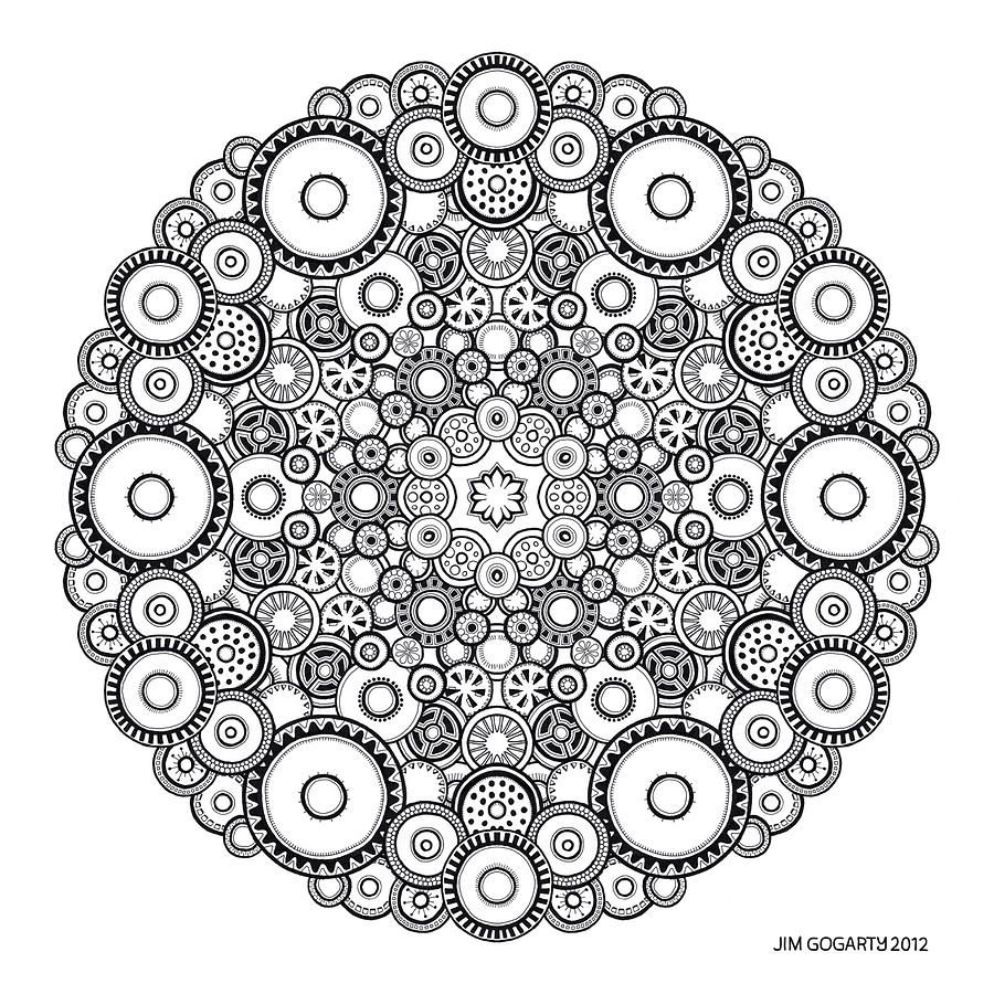 mandala drawing 37 jim gogarty coloring pages pinterest