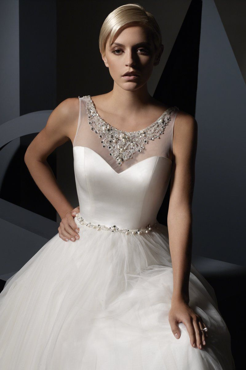 Cinderella wedding dress alfred angelo  The beading around the neckline on this gown by Alfred Angelo is