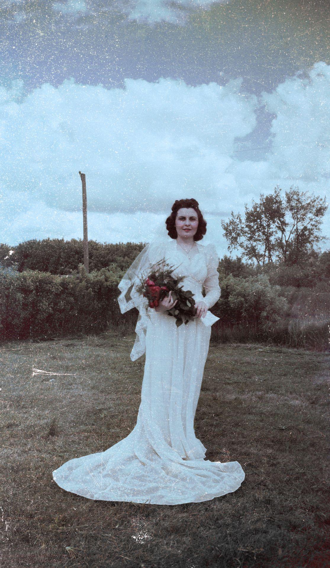 Maxine sieber in her wedding dress wolford north dakota the