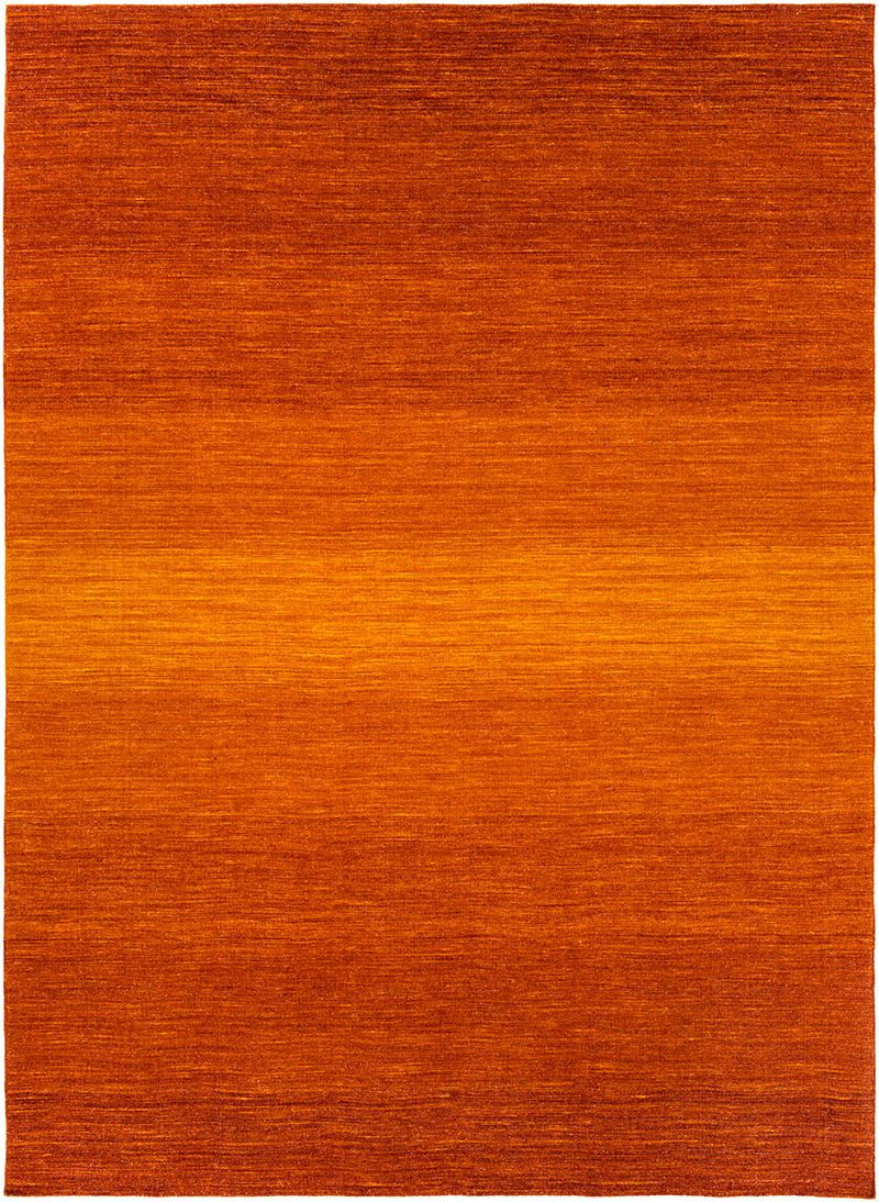 Chaz Tangerine Burnt Orange Area Rug Charms Hands And