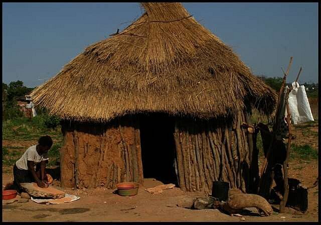 An African House In A Village In The Midlands Zimbabwe Houses