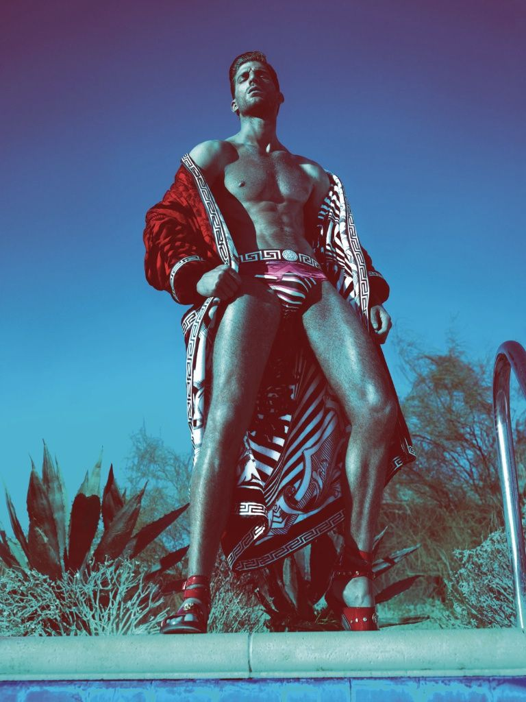 Versace Spring/Summer 2012 Men's Advertising Campaign: Sophisticated & Original Signature Patterns, Cuts, Fits, & Presentations