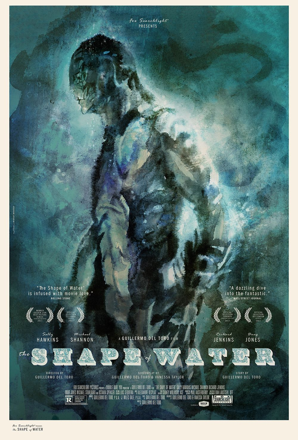 The Shape Of Water 2017 1000 X 1477 The Shape Of Water Water Poster Water Movie