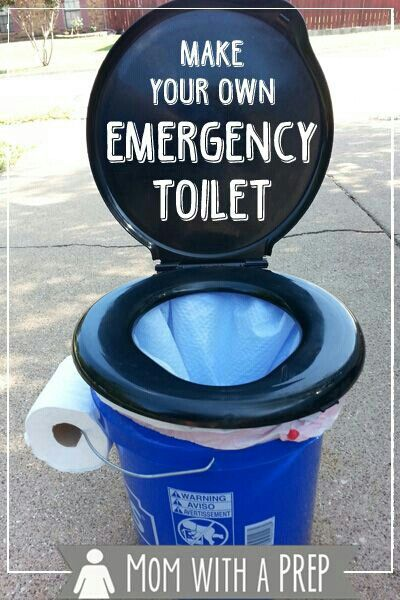 DIY Makeshift Emergency Toilet.   G;)