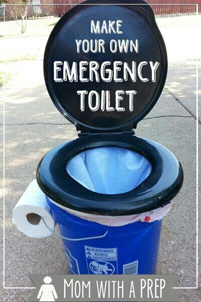 Diy Makeshift Emergency Toilet G Survival Skills Diy