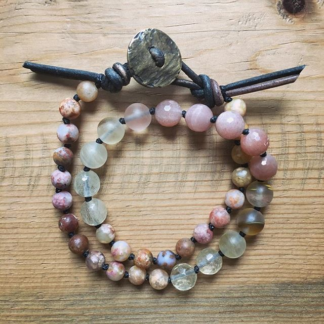 What are you manifesting this month?   Handmade mala beads for guys and girls. #theMALAshop #wearyourintention  www.lorenashleyyoga.com/malas