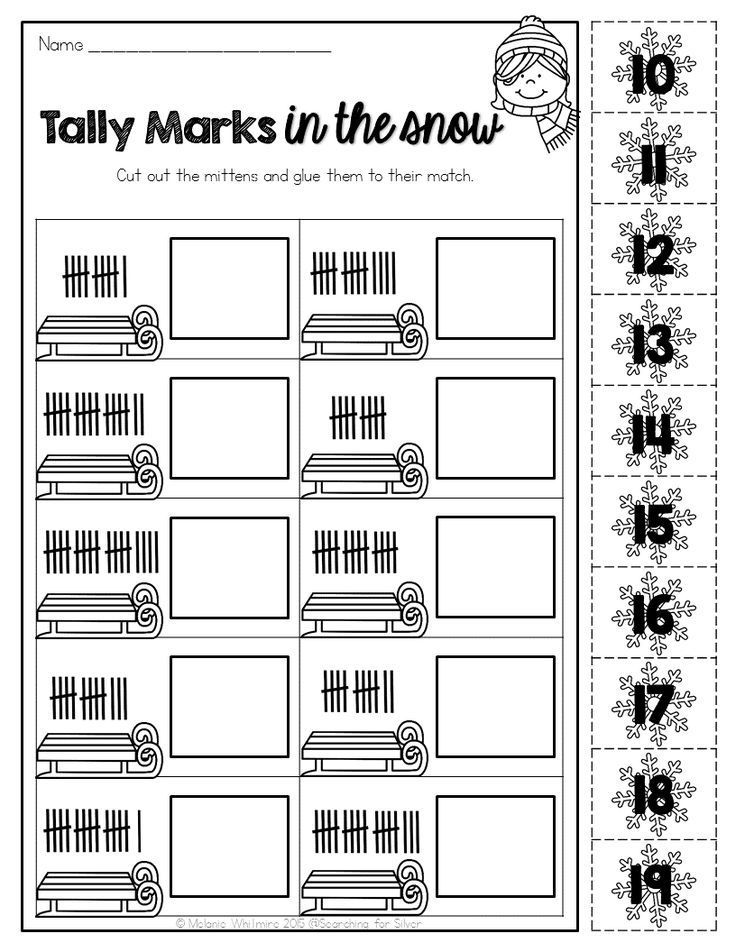 Printable Worksheets tally mark worksheets for first grade : Winter Math and Literacy No-Prep {First Grade} | Tally marks, Math ...