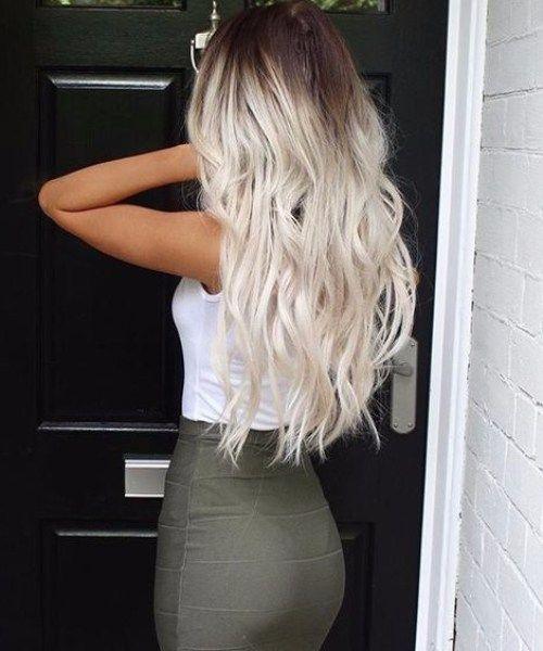 eisblonde balayage haarfarbe haare in 2019 blonde hair. Black Bedroom Furniture Sets. Home Design Ideas
