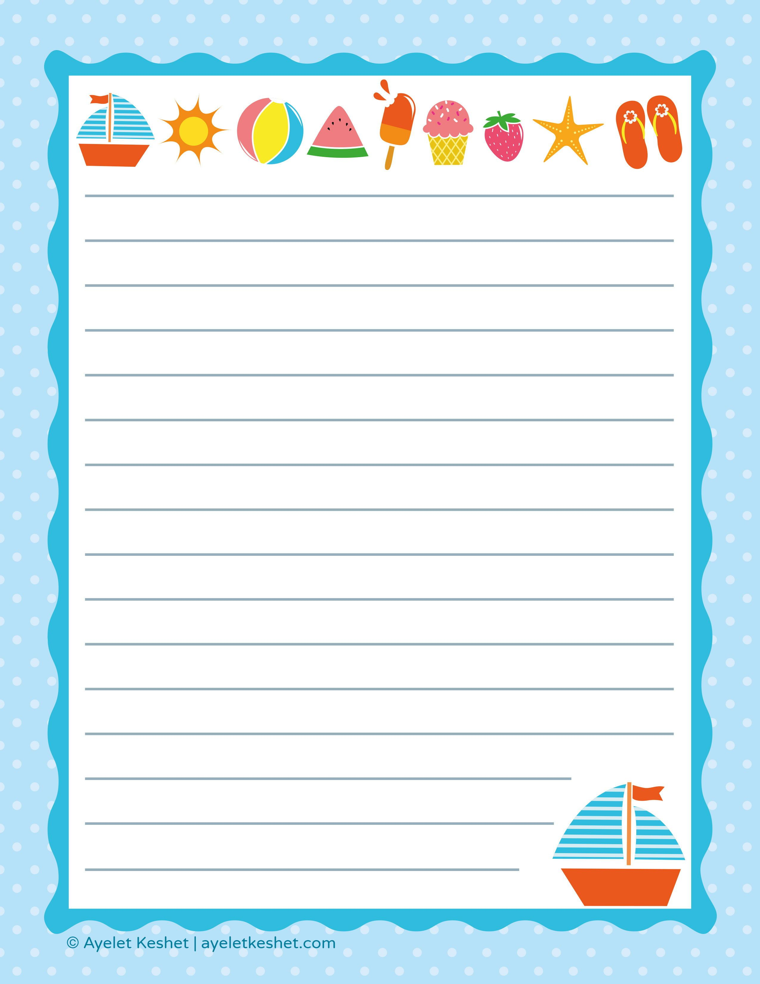Free Printable Writing Paper With Images