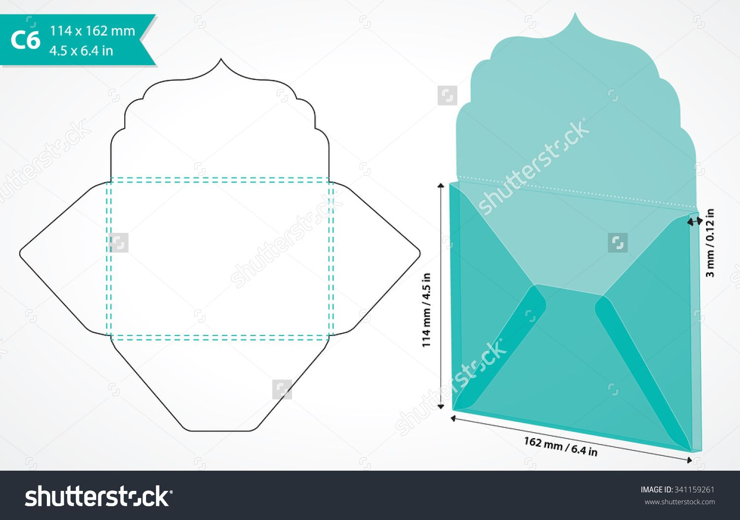 Envelope Template With Flap Design Easy To Fold May Be Used For