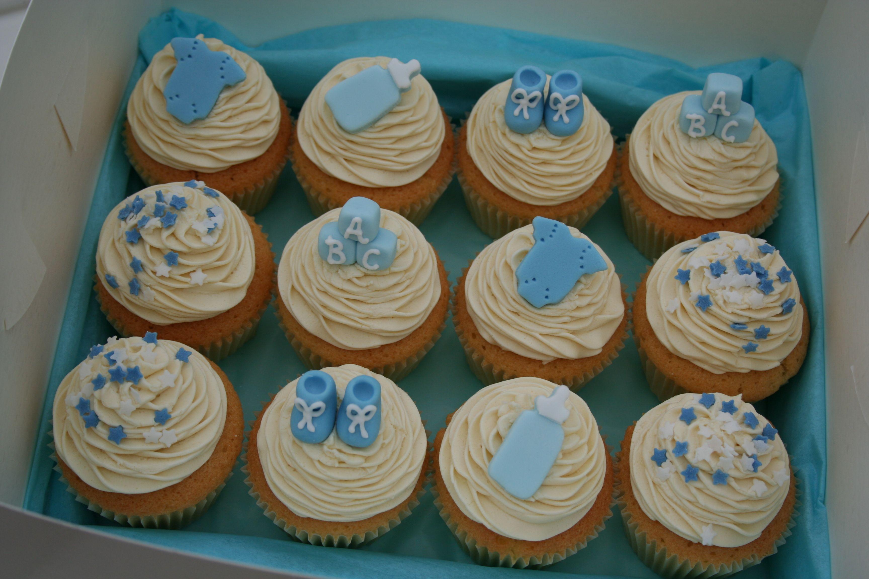 More Cupcake Ideas For Boy Babyshower Baby Boy Shower Baby Shower Cupcakes Baby Shower