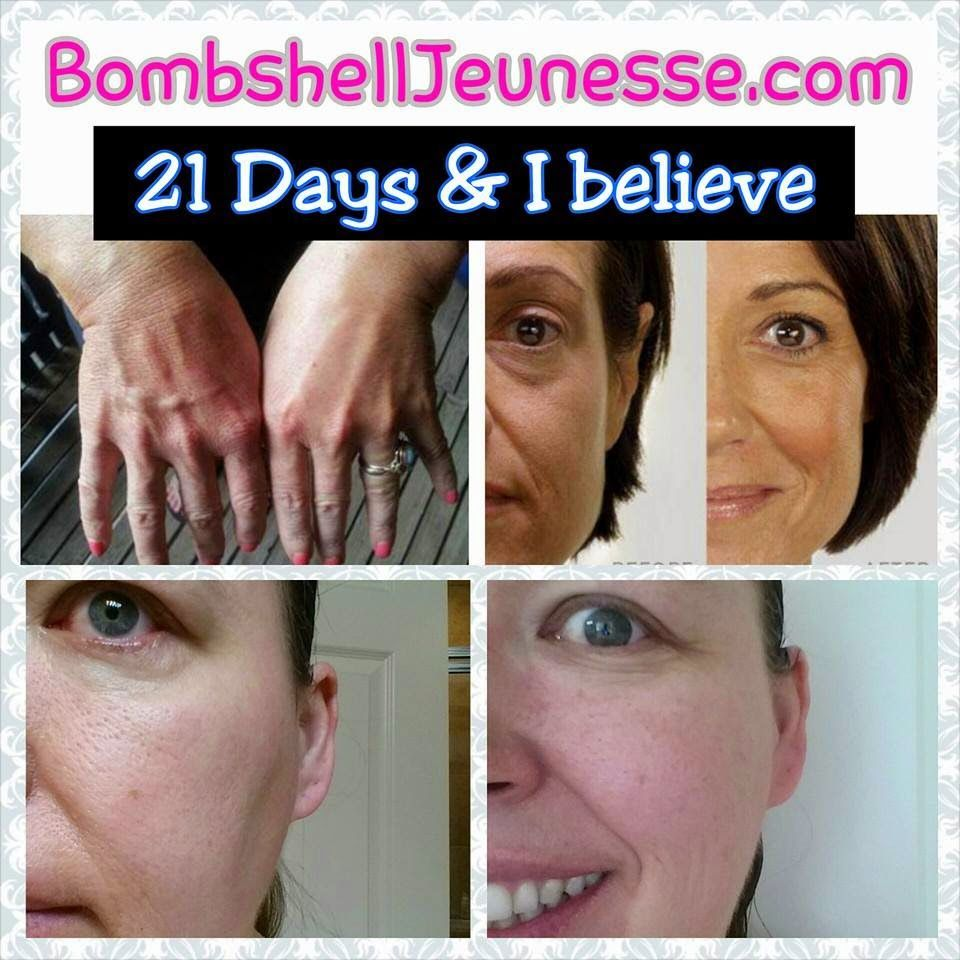 When I let go of the fear and used the products, the results were amazing pretty rapidly. #jeunesse #teambombshell