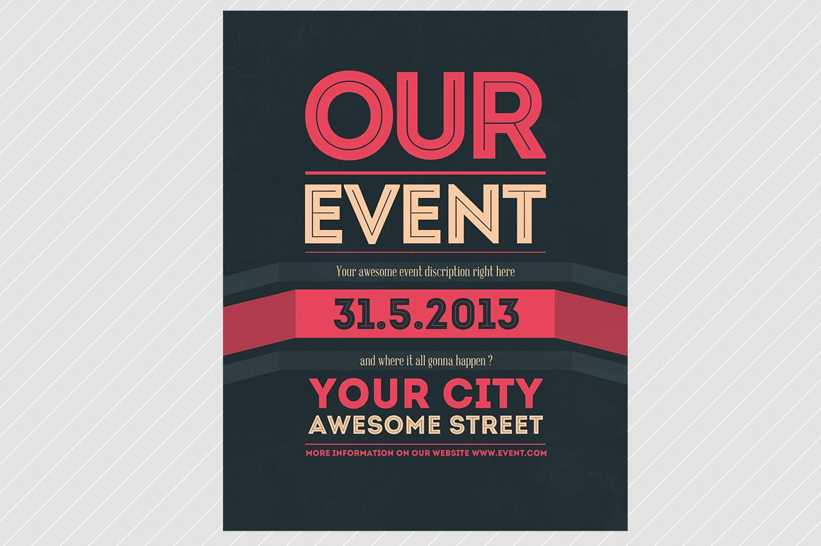 Our Event Flyer PSD Template – Event Flyer