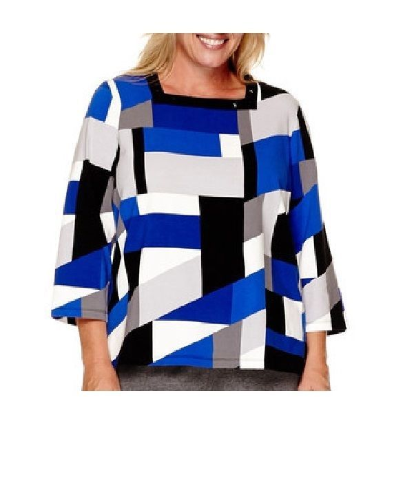 Alfred Dunner Womens Colorblock Top Madrid cotton spandex multi size L NEW   16.99 http://www.ebay.com/itm/Alfred-Dunner-Womens-Colorblock-Top-Madrid-cotton-spandex-multi-size-L-NEW-/262576840031?ssPageName=STRK:MESE:IT