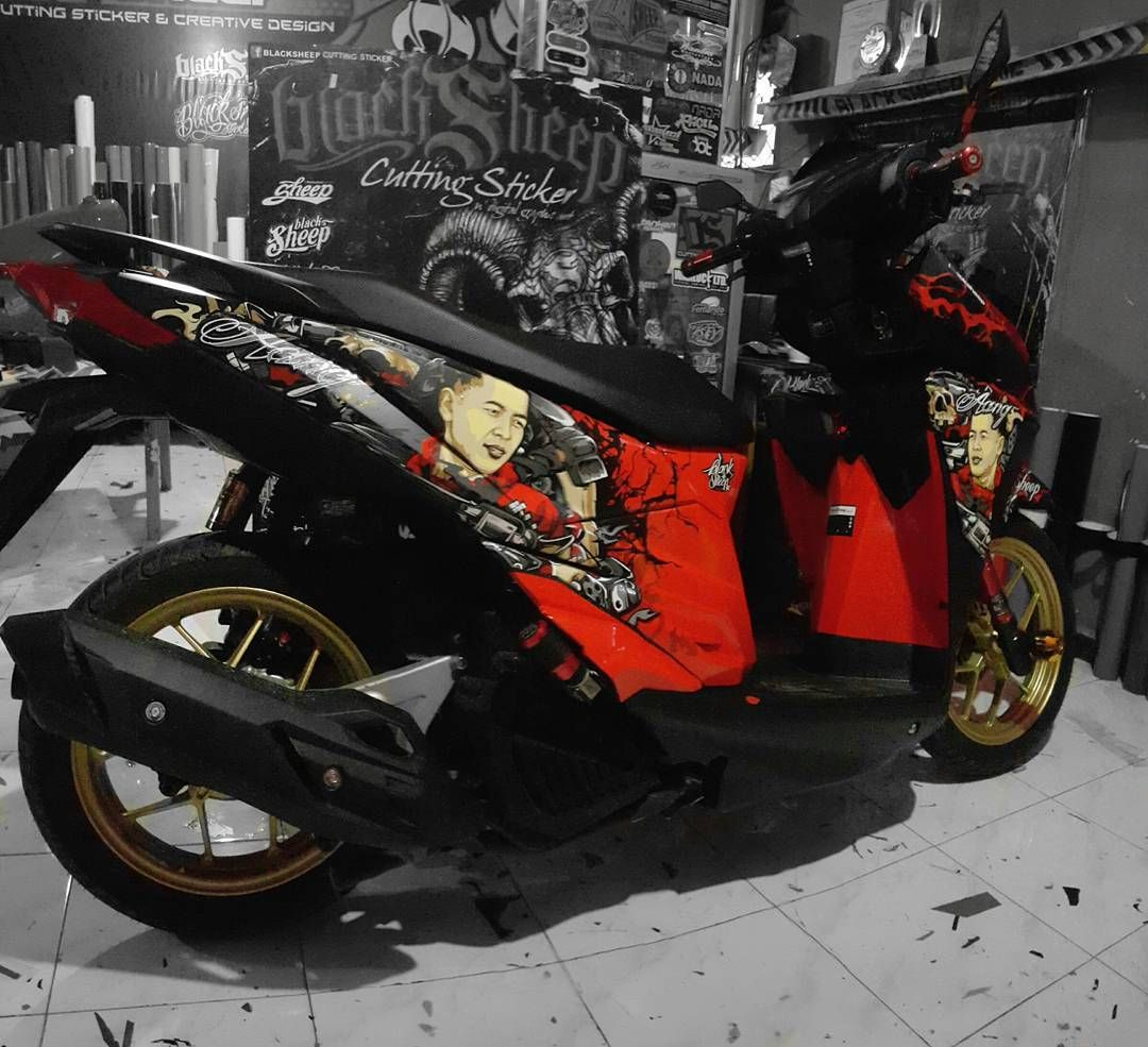 Vario 150 esp custom cutting sticker honda vario150 custom cuttingsticker 3dcuttingsticker