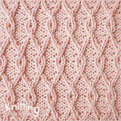 Interlocking Lattice cable stitch. This pattern gives a dense texture in which t…