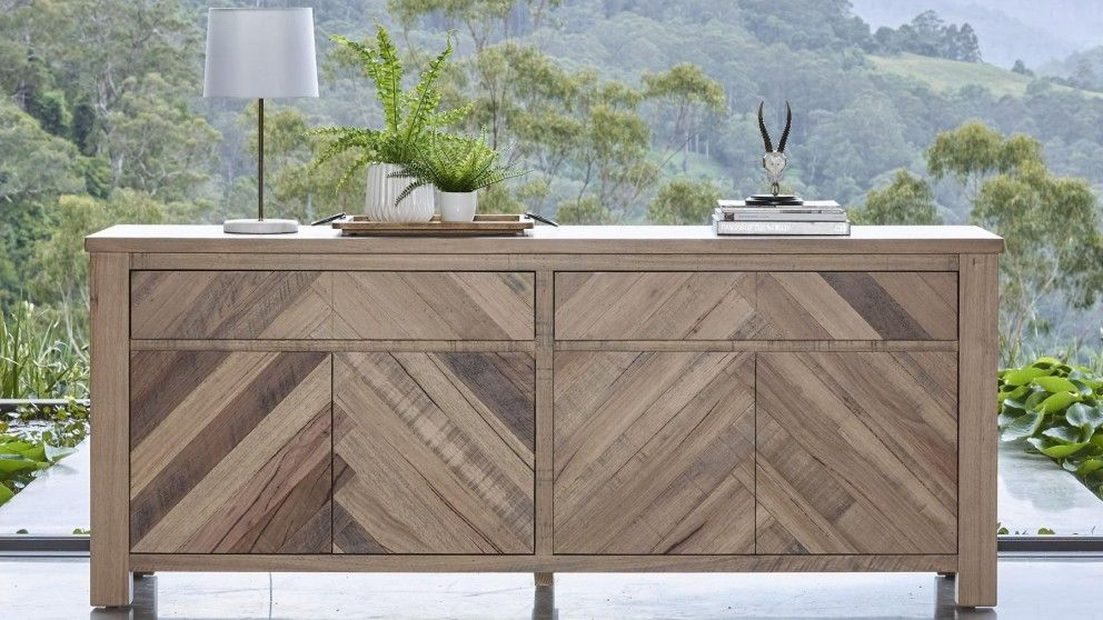 Herringbone buffet dining furniture dining room - Harvey norman living room furniture ...