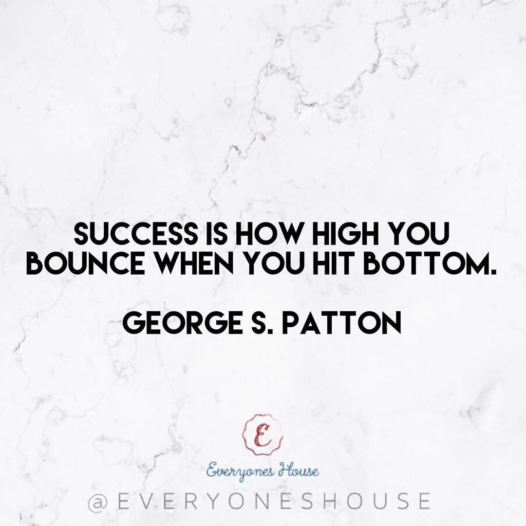 Success is how high you bounce when you hit bottom. • George S. Patton💘 .    #motivation     #fitnes...