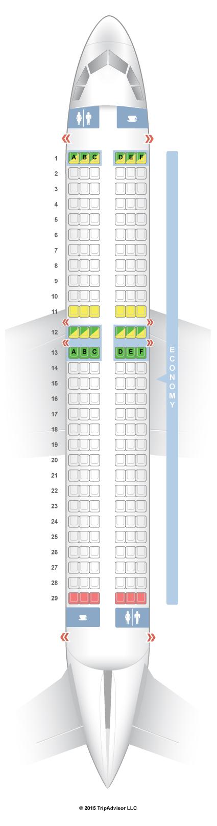 Seatguru Seat Map Wow Air Airbus A320 320 Travel Plane Seats