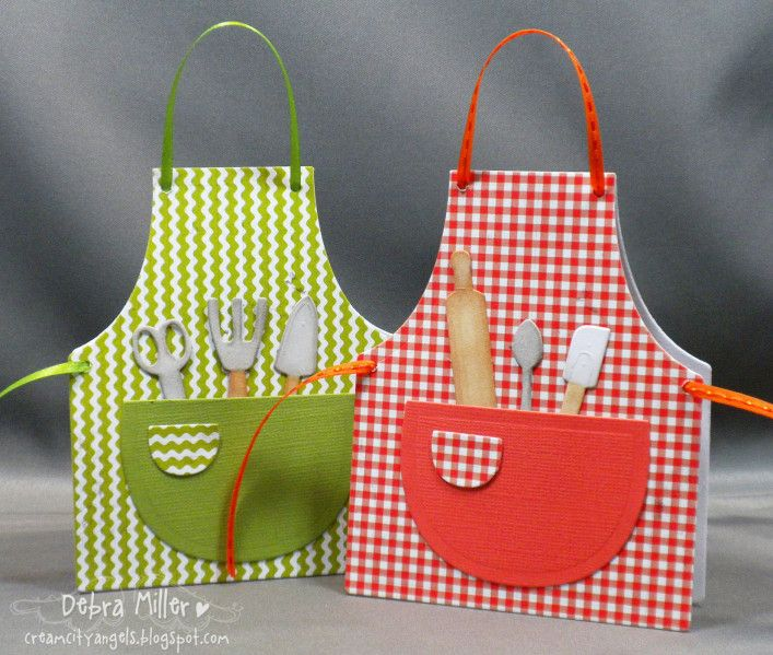 Our Daily Bread Apron And Tools Die Shaped Cards Cards Handmade Apron