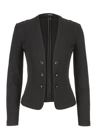 textured knit military blazer in black (original price, $44) available at #Maurices