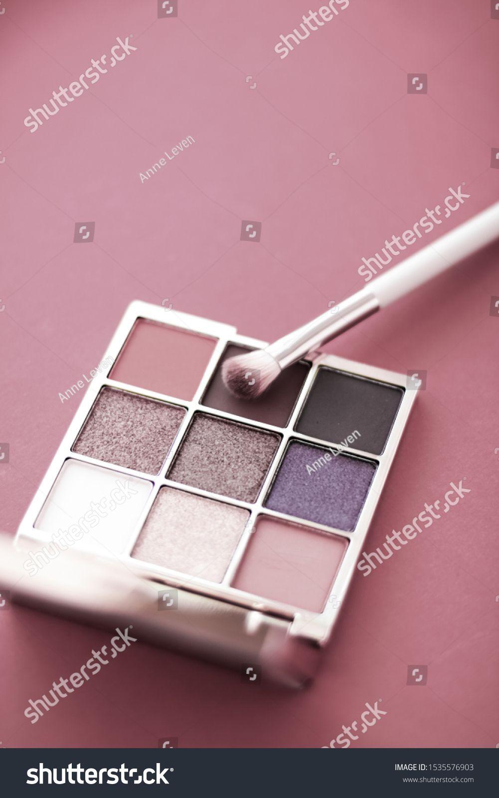 Cosmetic branding, mua and girly concept Eyeshadow