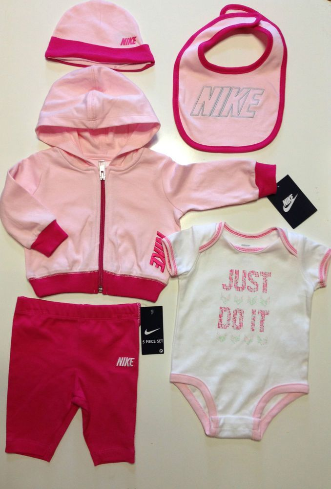 1bd640302fa NIKE GIRLS Baby Newborn 5-Pcs Set Romper