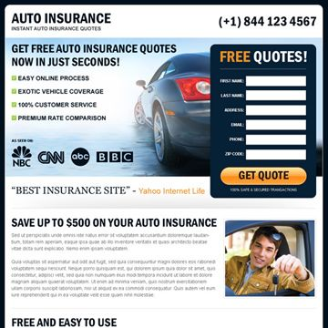 Auto Insurance Landing Page Design That Converts Car Insurance Mortgage Info Best Insurance