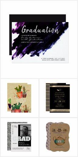 Modern and trendy customizable graduation invitations partyware and modern and trendy customizable graduation invitations partyware and gifts collection via zazzle https filmwisefo