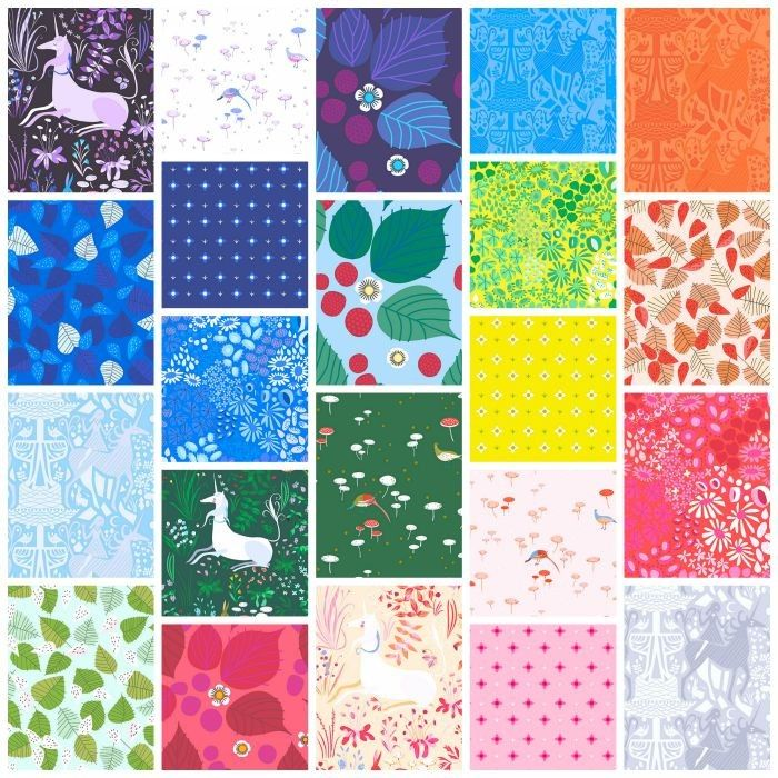 Fat Quarter Bundle - The Lovely Hunt - Lizzy House - Andover ... : quilting fabric uk - Adamdwight.com
